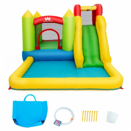 Gymax Outdoor Inflatable Bounce House Water Slide Climb Bouncer Pool Perspective: right