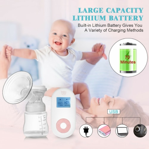 Costway Electric Double Breast Pump, Breast Pump, Portable Dual Suction Nursing Breastfeeding Perspective: right