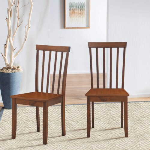 Costway Set of 4 Dining Chair Kitchen Spindle Back Side Chair with Solid Wooden Legs Perspective: right