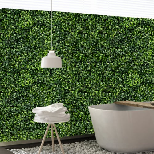 Costway 12 PCS 20''x20'' Artificial Boxwood Plant Wall Panel Hedge Privacy Fence Perspective: right