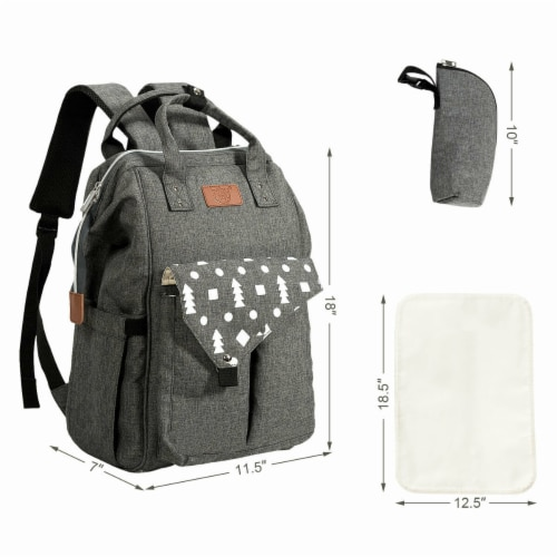 Gymax Diaper Bag Waterproof Baby Nappy Backpack w/USB Charging Port Perspective: right