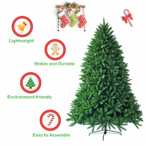 Costway 7.5ft Artificial Christmas Fir Tree 1968 Branch Tips Perspective: right