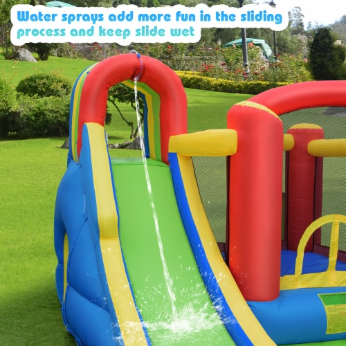 Costway Inflatable Kid Bounce House Slide Climbing Splash Pool Jumping Castle Perspective: right