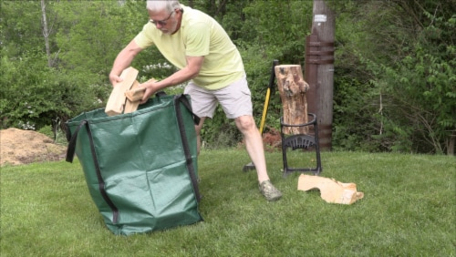 Halsted DuraSack Reusable Heavy Duty Home and Yard Bag - Gray Perspective: right