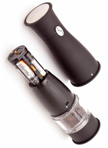 Ozeri Artesio Soft Touch Electric Pepper Mill and Grinder, BPA-Free Perspective: right