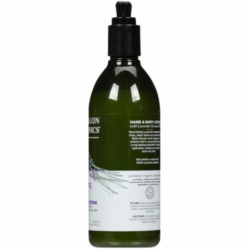 Avalon Organics Lavender Hand and Body Lotion Perspective: right