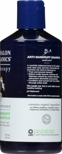 Avalon Organics Medicated Anti-Dandruff Shampoo Perspective: right