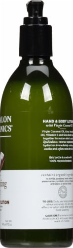 Avalon Organics Moisturizing Coconut Hand & Body Lotion Perspective: right