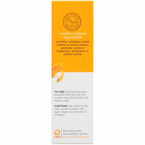 Avalon Organics Intense Defense Vitamin C Eye Cream Perspective: right