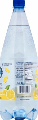 Crystal Geyser Sparkling Water with Lemon Perspective: right