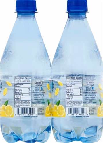 Crystal Geyser Sparkling Lemon Water Perspective: right