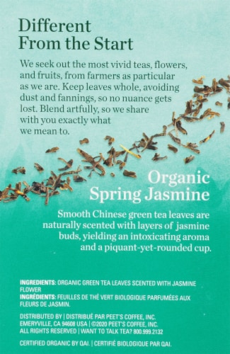 Mighty Leaf Jasmin Du Printemps Biologique Tea Sachets Perspective: right