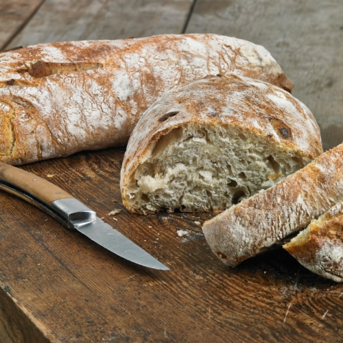 Izzio Artisan Bakery Garlic Ciabatta Bread Perspective: right
