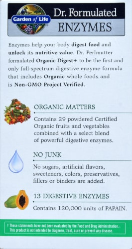 Garden of Life Dr Formulated Organic Digest + Enzymes Chewables Perspective: right
