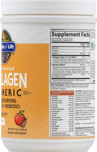 Garden of Life Multi-Sourced Apple Cinnamon Collagen Turmeric Perspective: right