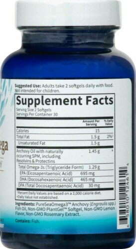 Garden of Life Advanced Omega Brain & Heart Health Softgels 1290mg Perspective: right