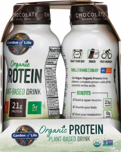 Organic Chocolate Plant Protein Shake Perspective: right