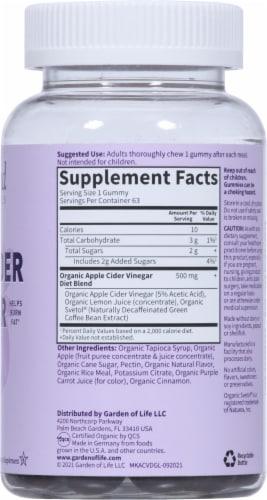Garden of Life MyKind Organics Apple Cider Vinegar Diet Vegan Gummies Perspective: right