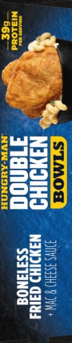 Hungry-Man Double Boneless Fried Chicken Bowls With White Cheddar Mac & Cheese Frozen Meal Perspective: right