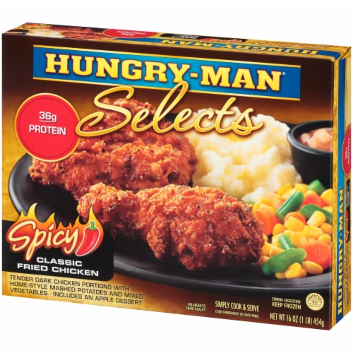 Hungry-Man Selects Spicy Classic Fried Chicken Frozen Meal Perspective: right