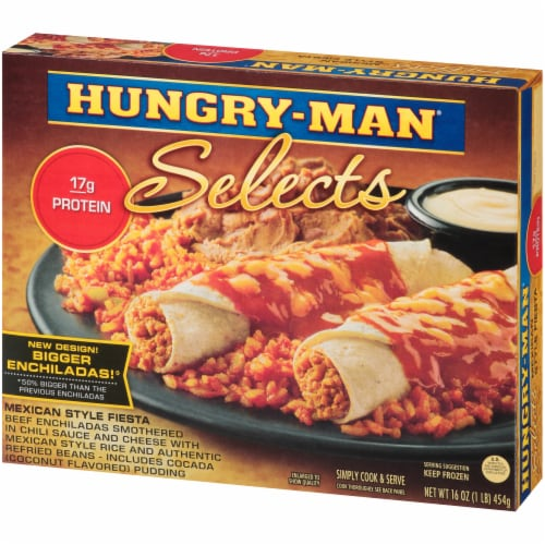 Hungry-Man Selects Mexican Style Fiesta Enchiladas Perspective: right