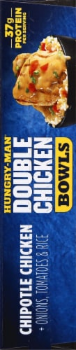 Hungry-Man Double Chipotle Chicken and Rice Frozen Protein Bowl Perspective: right