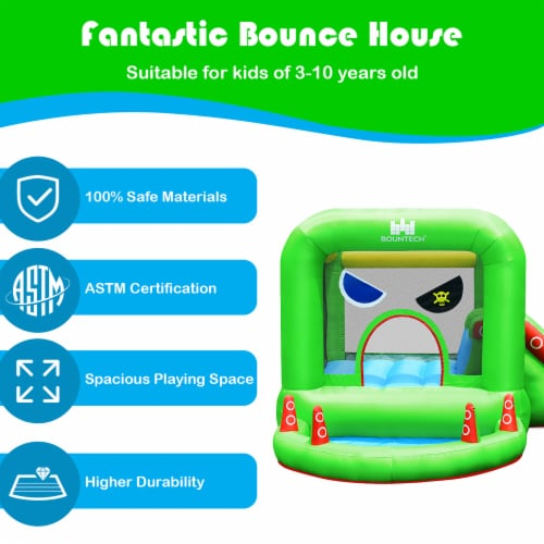 Costway Inflatable Bouncer Kids Bounce House Jump Climbing Slide BallPit Without Blower Perspective: right