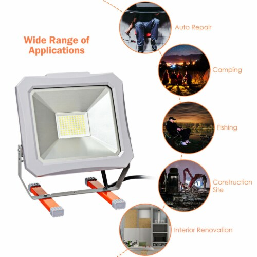 Costway 53W 6000LM LED Work Light for Camping Fishing Perspective: right