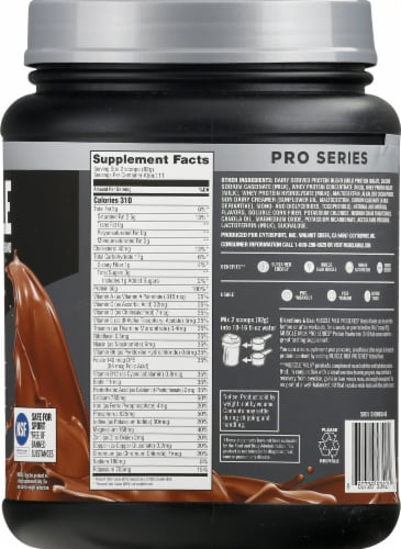 Muscle Milk Pro Series 50 Knockout Chocolate Protein Powder Perspective: right