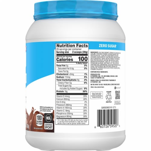 Muscle Milk 100 Calorie Chocolate Protein Powder Perspective: right