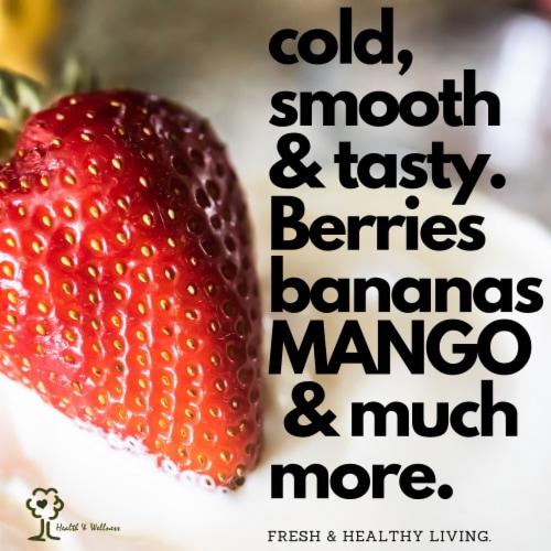 Uber Appliance Sorbet Frozen yogurt maker|soft serve fruit machine|4pc Popsicle mold included Perspective: right
