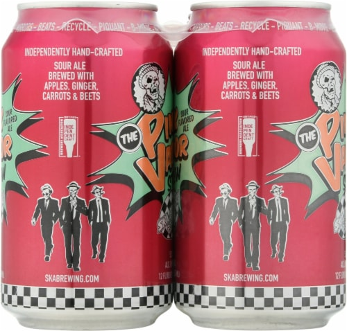 Ska Brewing Co. Pink Vapor Stew Sour Flavored Ale Perspective: right