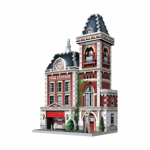 Wrebbit Urbania Collection Fire Station 3D Puzzle Perspective: right