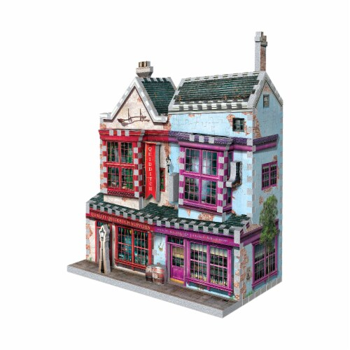 Wrebbit Harry Potter Diagon Alley Collection Quality Quidditch Supplies 3D Puzzle Perspective: right