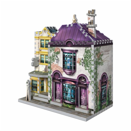 Harry Potter Diagon Alley Collection Madam Malkin's & Florean Fortescue's Ice Cream 3D Puzzle Perspective: right