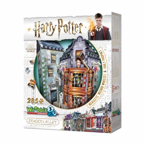 Wrebbit Diagon Alley Collection Weasleys Wizard Wheezes & Daily Prophet 3D Puzzle Perspective: right