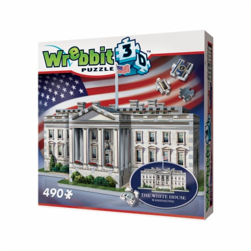 Wrebbit The White House 3D Puzzle Perspective: right
