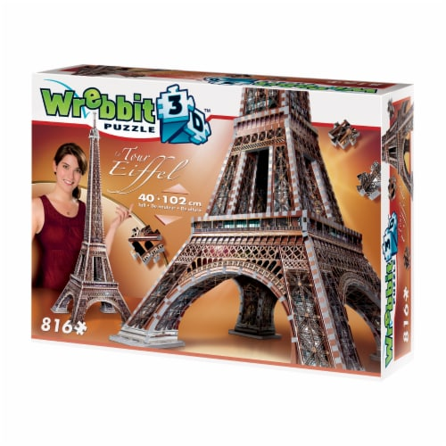 Wrebbit Eiffel Tower 3D Puzzle Perspective: right