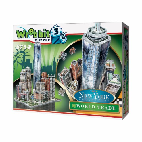 Wrebbit New York Collection World Trade Center 3D Puzzle Perspective: right