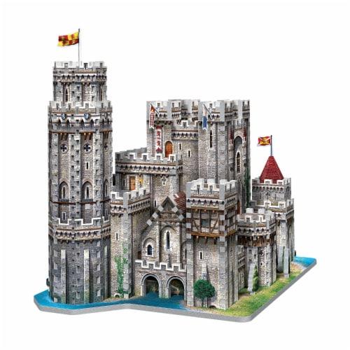 Wrebbit King Arthur Camelot 3D Puzzle Perspective: right