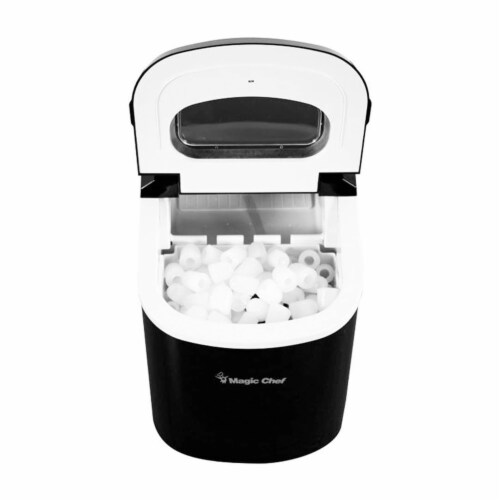 Magic Chef MCIM22B Portable Home Countertop Ice Maker, 27 Pounds Per Day, Black Perspective: right