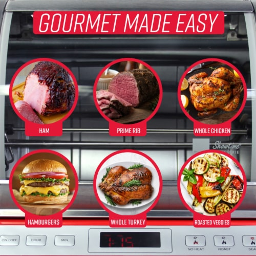 Ronco EZ-Store Rotisserie - Red Perspective: right