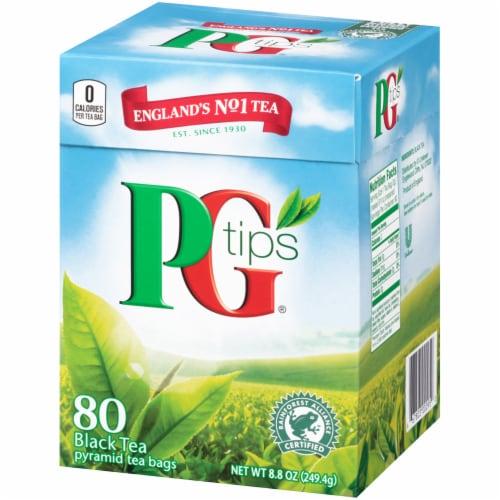 PG Tips Black Tea Pyramid Tea Bags 80 Count Perspective: right