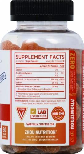 Zhou Vitamin C+ Orange Blast Flavor Gummy Dietary Supplement Perspective: right