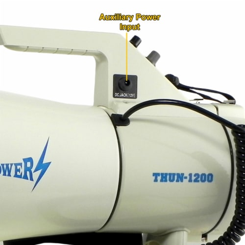 ThunderPower 45W 2000 Yard Sound Range PA Bullhorn Megaphone Speaker with Siren Perspective: right