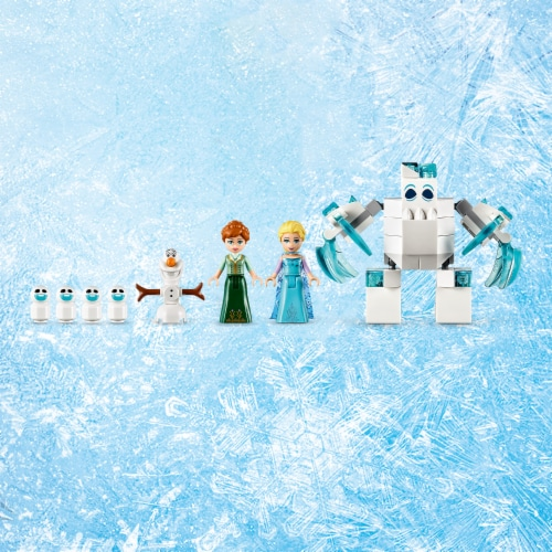 LEGO 43172 Disney Frozen Elsa's Magical Ice Palace Building Kit w/ 4 Minifigures Perspective: right