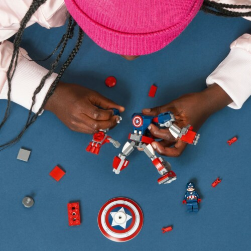 LEGO® Marvel Avengers Captain America Mech Armor Building Toy Perspective: right