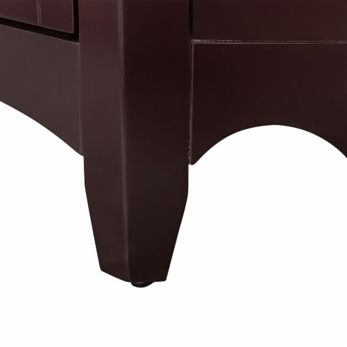 Elegant Home Fashions Wooden Bathroom Corner Cabinet Free Standing Brown ELG-596 Perspective: right
