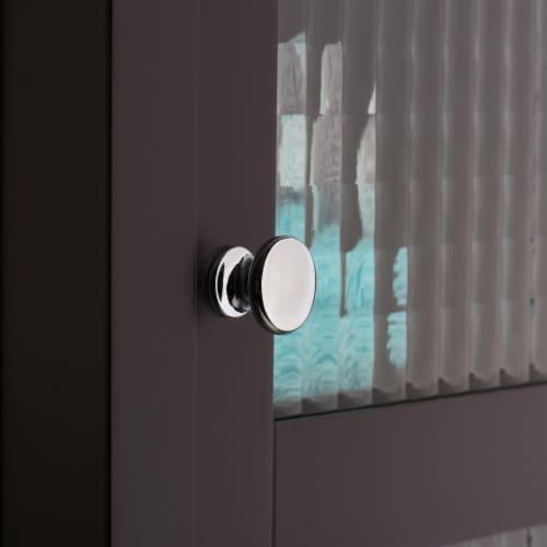 Elegant Home Fashions Wooden Bathroom Cabinet Floor & Glass Door Brown 6216 Perspective: right