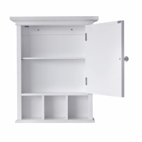 Elegant Home Fashions Neal 1-Door Medicine Cabinet in White Perspective: right